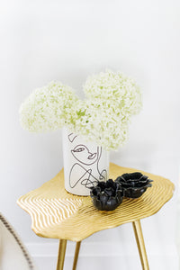 """Woman Line Art"" Planter Pot - Black & White"