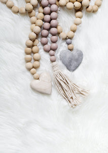 """Worry Not"" Prayer Beads with Tassel"