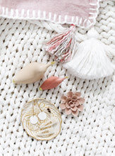 Load image into Gallery viewer, Pale Pink Tassel & Trim Throw