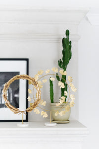 Grecian Gold Wreath On Marble Stand - Due to Covid these will be out of stock until early 2021 :-(