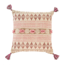 Load image into Gallery viewer, Rosa Block Print Cushion
