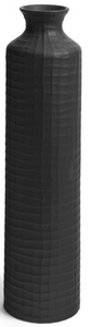 Boane Textured Large Black Vase