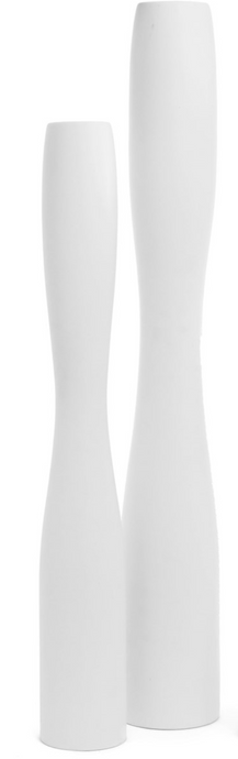 Pescara Tall Ceramic Vase - White