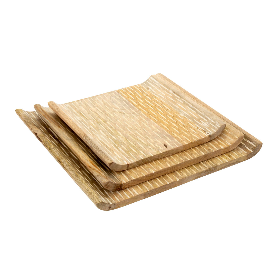 New Mango Wood Platters (S/3)