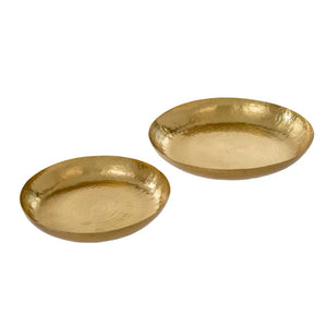 Thali Hammered Trays - Gold or Silver