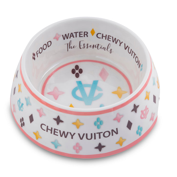 NEW White Chewy Vuiton Bowl