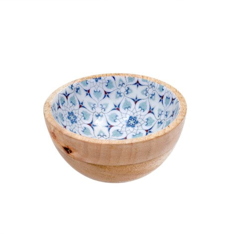 Blue & White Wood & Enamel Small Bowl 4-9523_lg