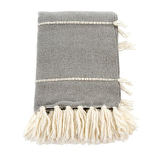 Load image into Gallery viewer, Decor by Christine online shop Fringe Throw Grey