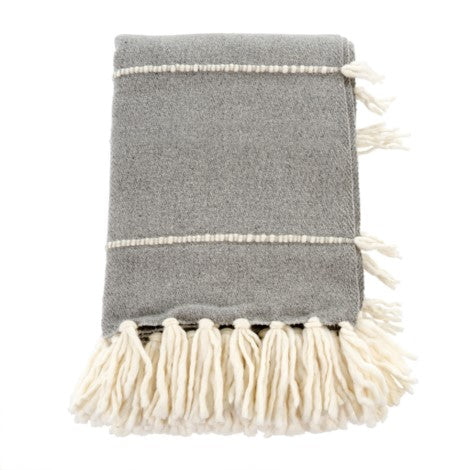 Decor by Christine online shop Fringe Throw Grey