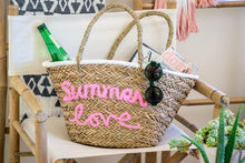 Load image into Gallery viewer, Summer Love Beach Bag Styled