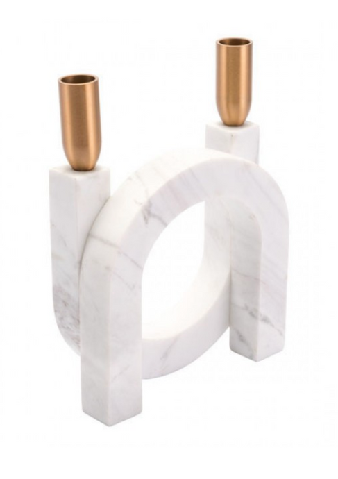 Circular Matte White Candle Holder