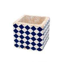 Load image into Gallery viewer, Santorini Tile Pot - Navy 3-9614_lg