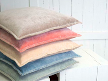 Load image into Gallery viewer, Velvet Cushions stacked at Decor by Christine