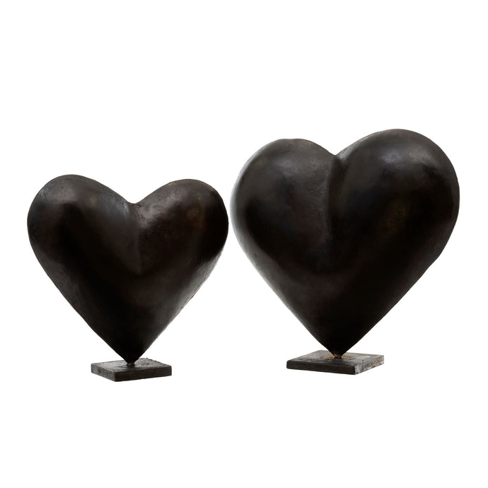 Black Heart Statuettes (large and small)
