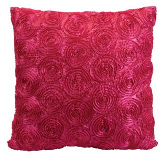 "Viola Honeysuckle Pink 18"" Square Accent Pillow"