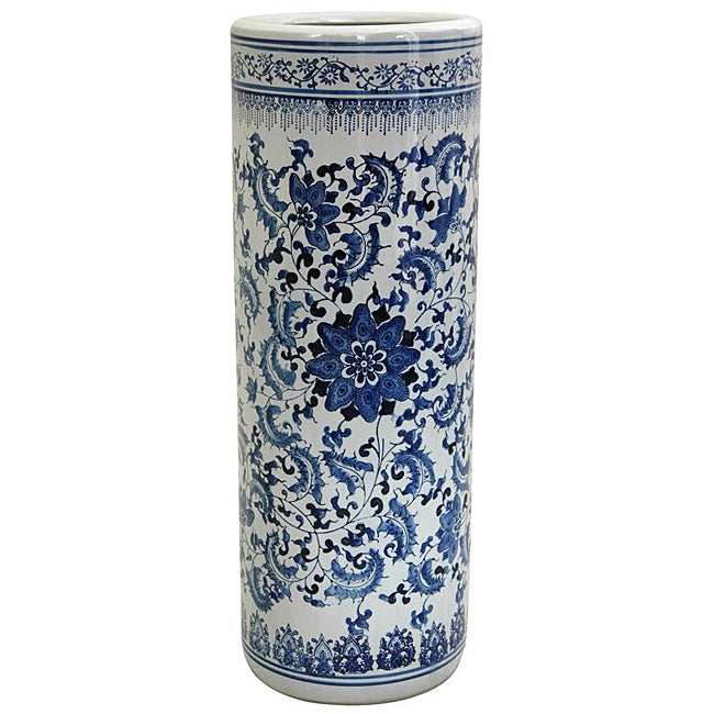 Porcelain-24-inch-Blue-and-White-Floral-Umbrella-Stand-Overstock