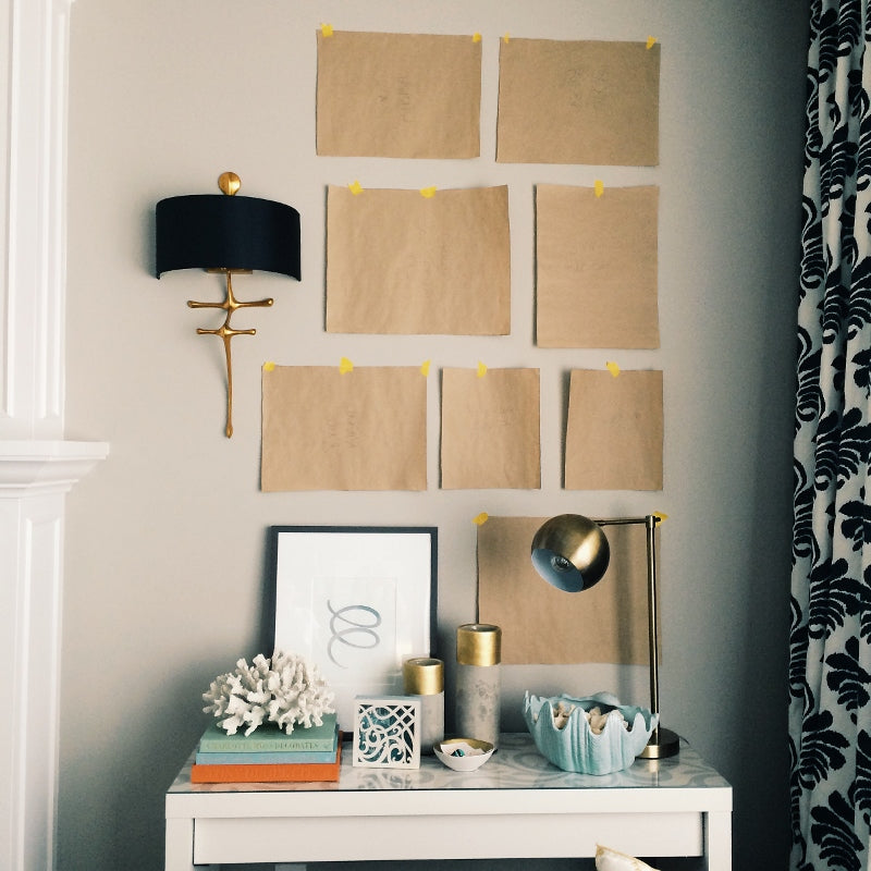 Creating a Gallery wall with Craft Paper - Decor by Christine