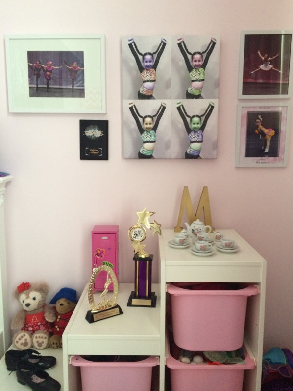 Decor by Christine - creating art wall in kids bedroom
