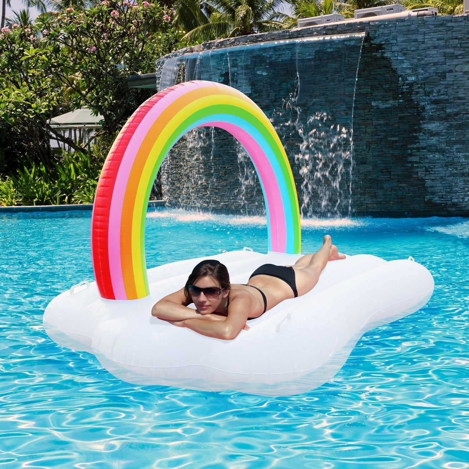 Giant Rainbow Cloud Floatie