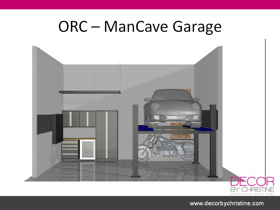 ORC garage 3D floorplan - Decor by Christine