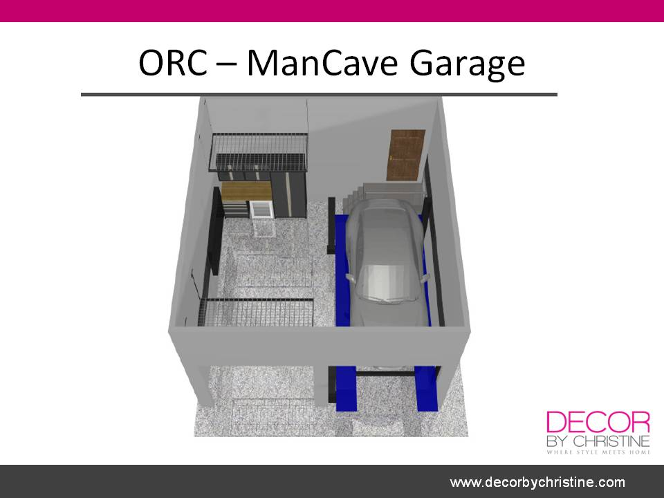 ORC garage 3D topview - Decor by Christine