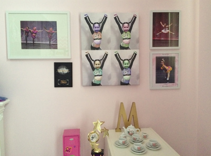 daughters bedroom mini artwall - Decor by Christine