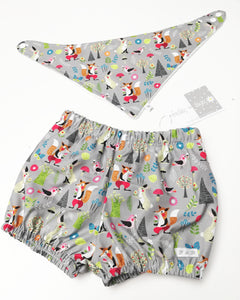 Fox & Hare bloomer and bib set, Full set or separates