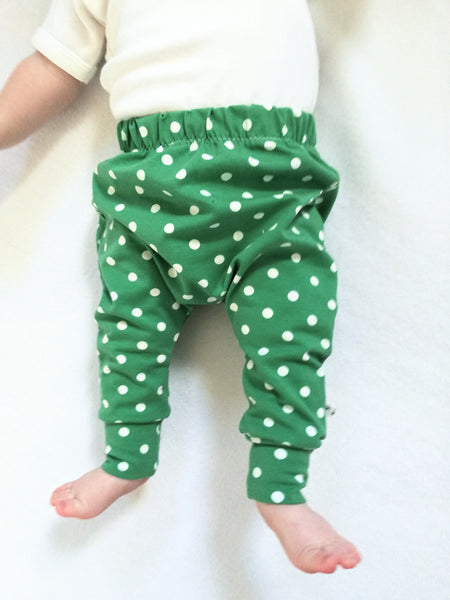 Jade Green Spot leggings