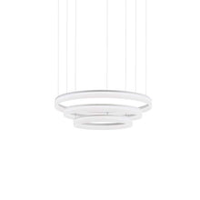 Gidea White 3 Ringed Large Suspension Pendant - ID 6964