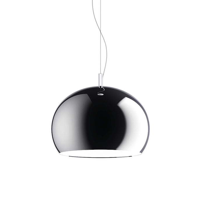 Guzzini Zurigo 1966 Small Pendant Lamp In Chrome - ID 8569
