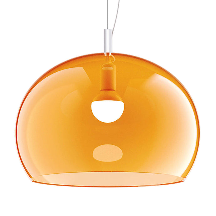 Guzzini Zurigo 1966 Large Pendant Lamp In Transparent Orange - ID 8553
