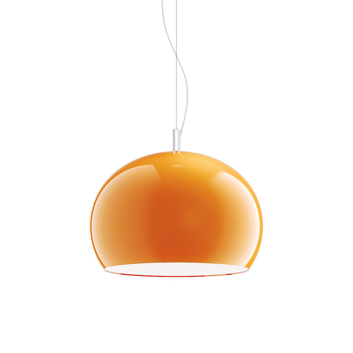 Guzzini Zurigo 1966 Large Pendant Lamp In Orange - ID 8566