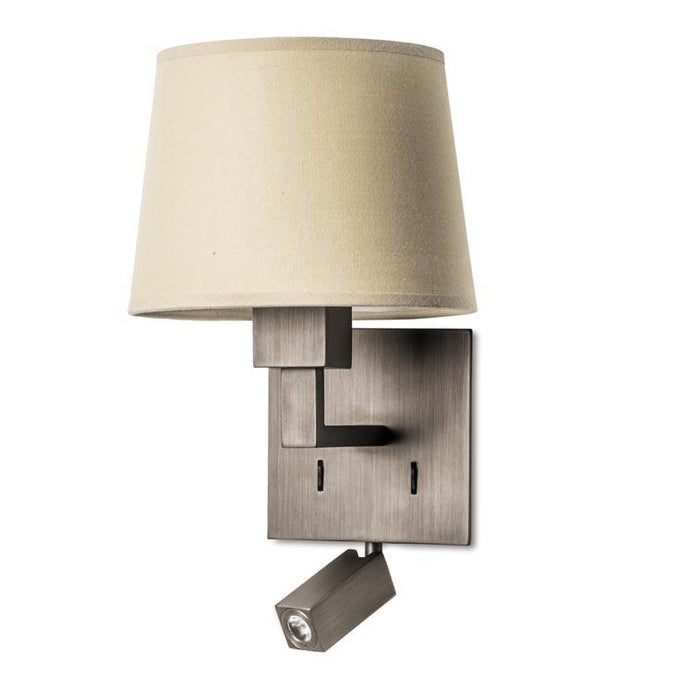 Bromley Contemporary Wall Light With LED Reading Module In Bronze - ID 7888