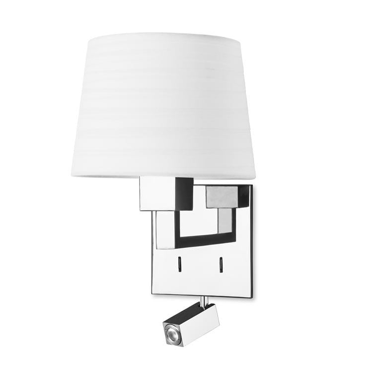 Bromley Contemporary Wall Light With LED Reading Module In Chrome - ID 7889