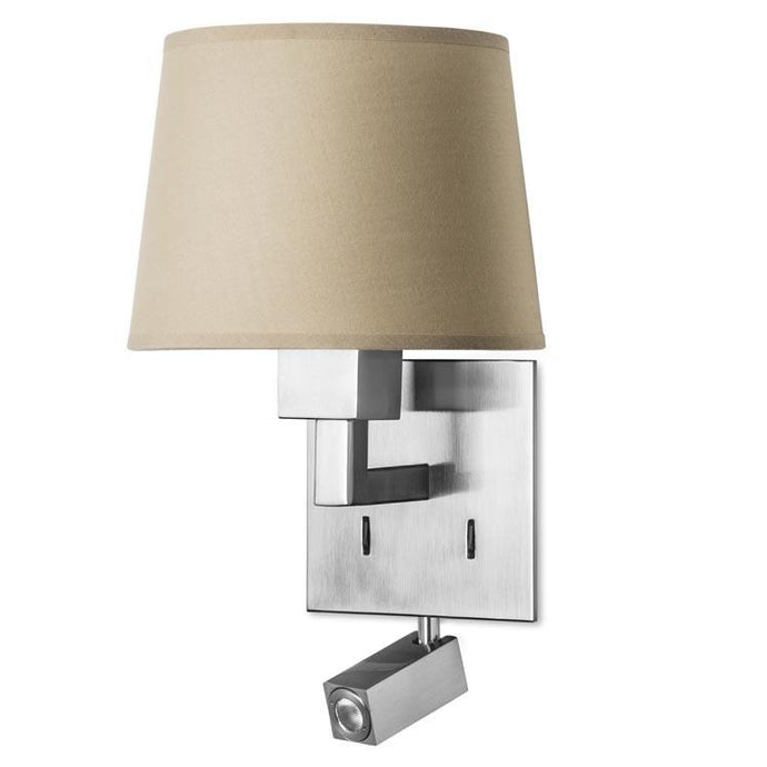 Bromley Contemporary Wall Light With LED Reading Module In Satin Nickel - ID 5277