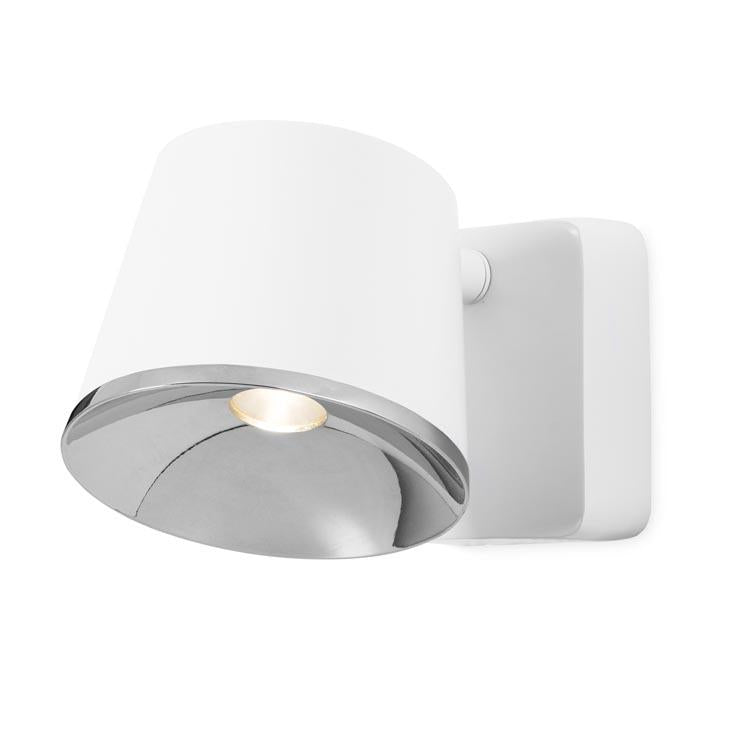 Halkin Modern LED Spotlight In White With Silver Facia - ID 9143