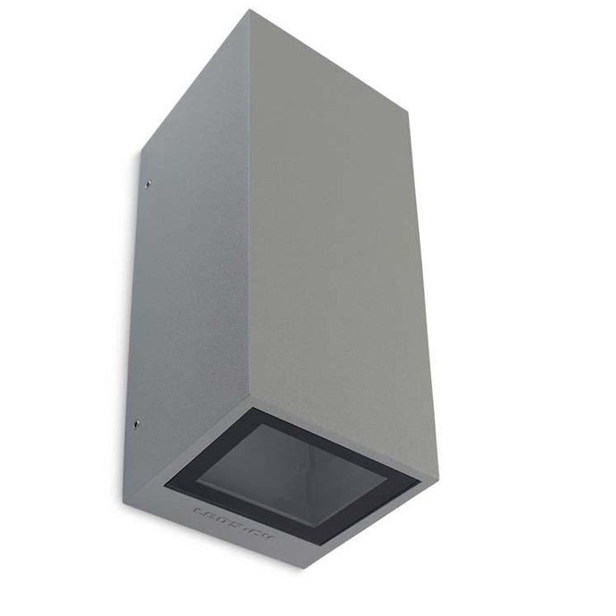 Stockwell Matt Aluminium Light Grey Up/Down Outdoor Wall Light - ID 8783