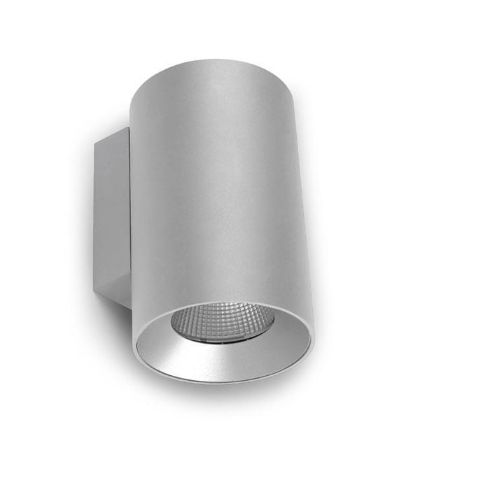 Halpin Matt Aluminium Grey Up/Down Outdoor Wall Light - ID 8780