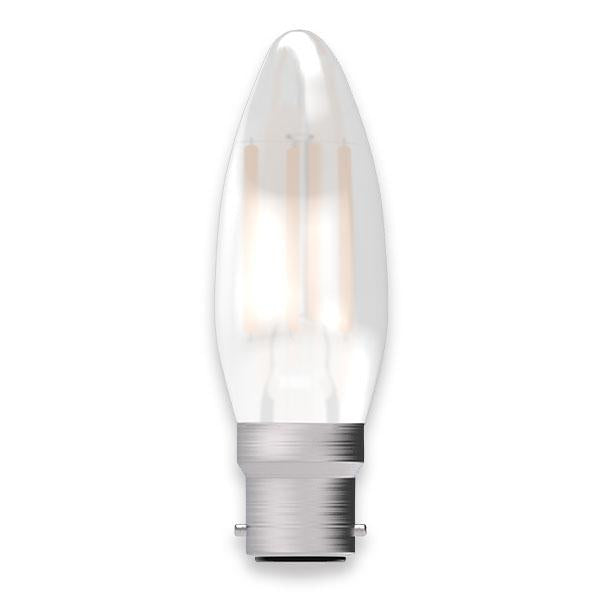 Opal Candle Lamp Warm White 4W LED B22 - ID 9704