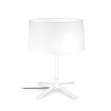 Belmont White Table Lamp With Fabric Shade & Diffuser - ID 8127
