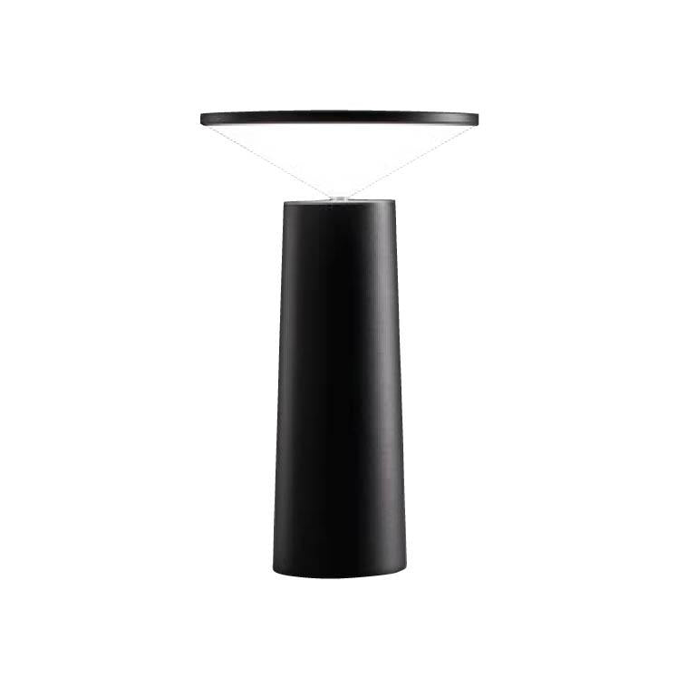 Halley Pivoting Rechargeable Table Lamp In Black - ID 9152
