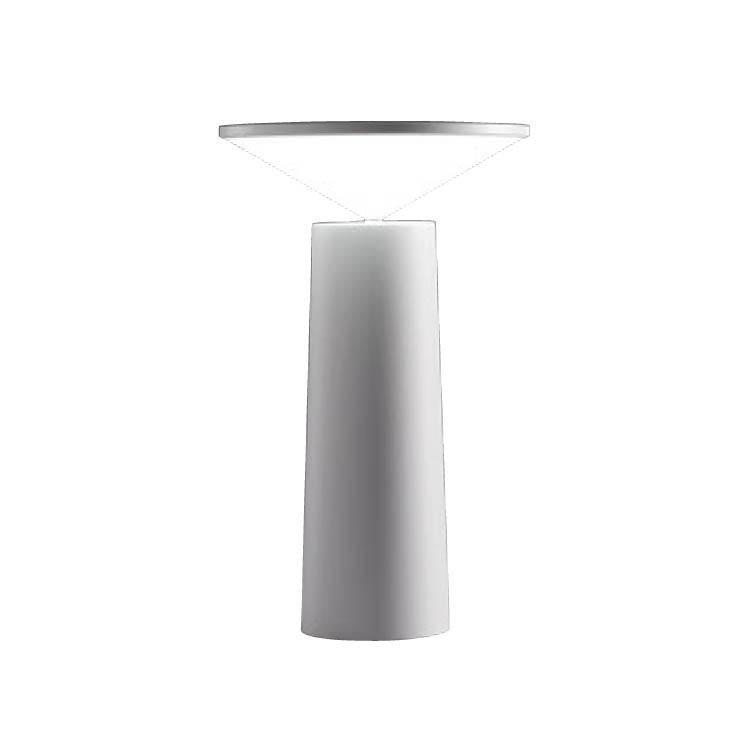 Halley Pivoting Rechargeable Table Lamp In white - ID 9148