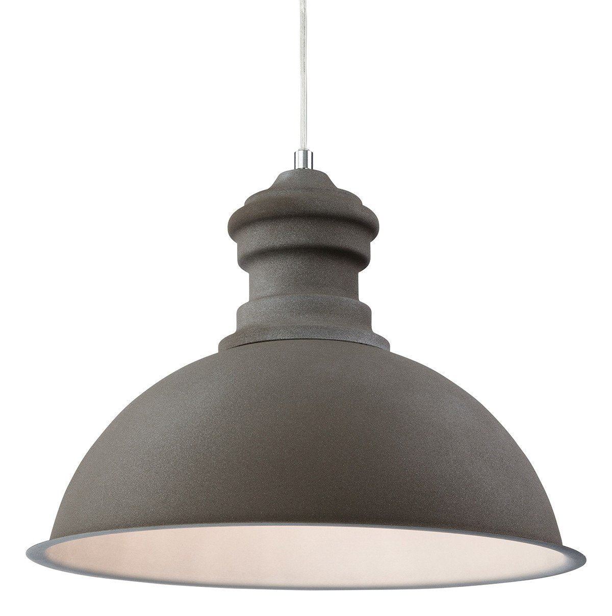 Aztec Rough Sand Concrete Single Pendant - London Lighting