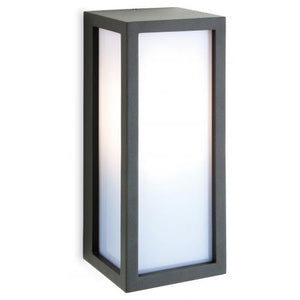 Die Cast Aluminium Wall Light With Opal Diffuser In Graphite Finish