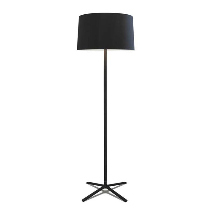 Belmont Black Floor Lamp With Fabric Shade & Diffuser - ID 8129