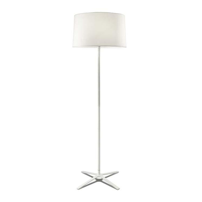 Belmont White Floor Lamp with Shade - ID 8130