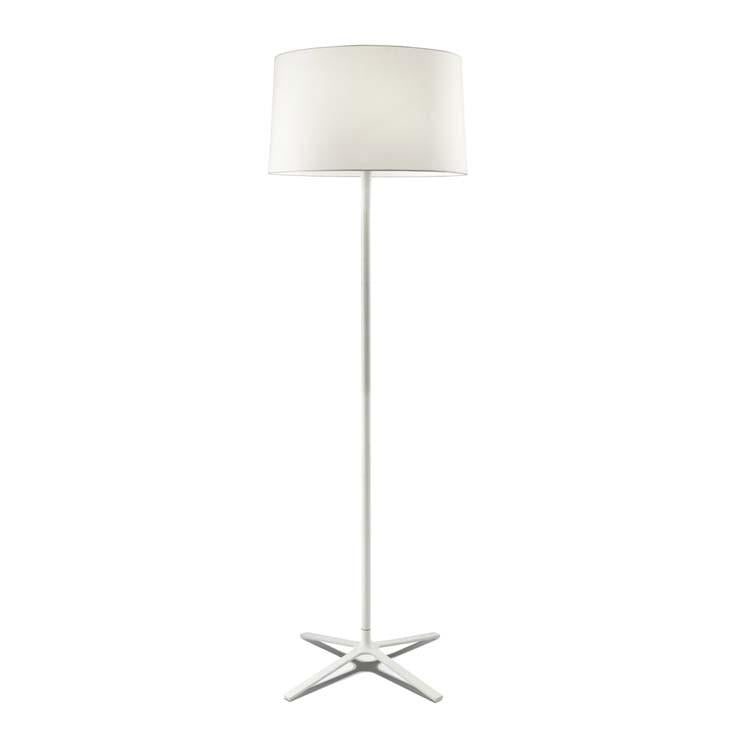 Belmont White Floor Lamp With Fabric Shade & Diffuser - ID 8130