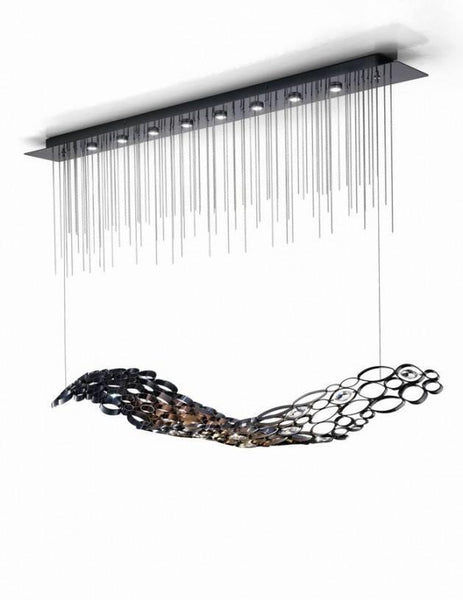 Chrysalis Single Long Chandelier