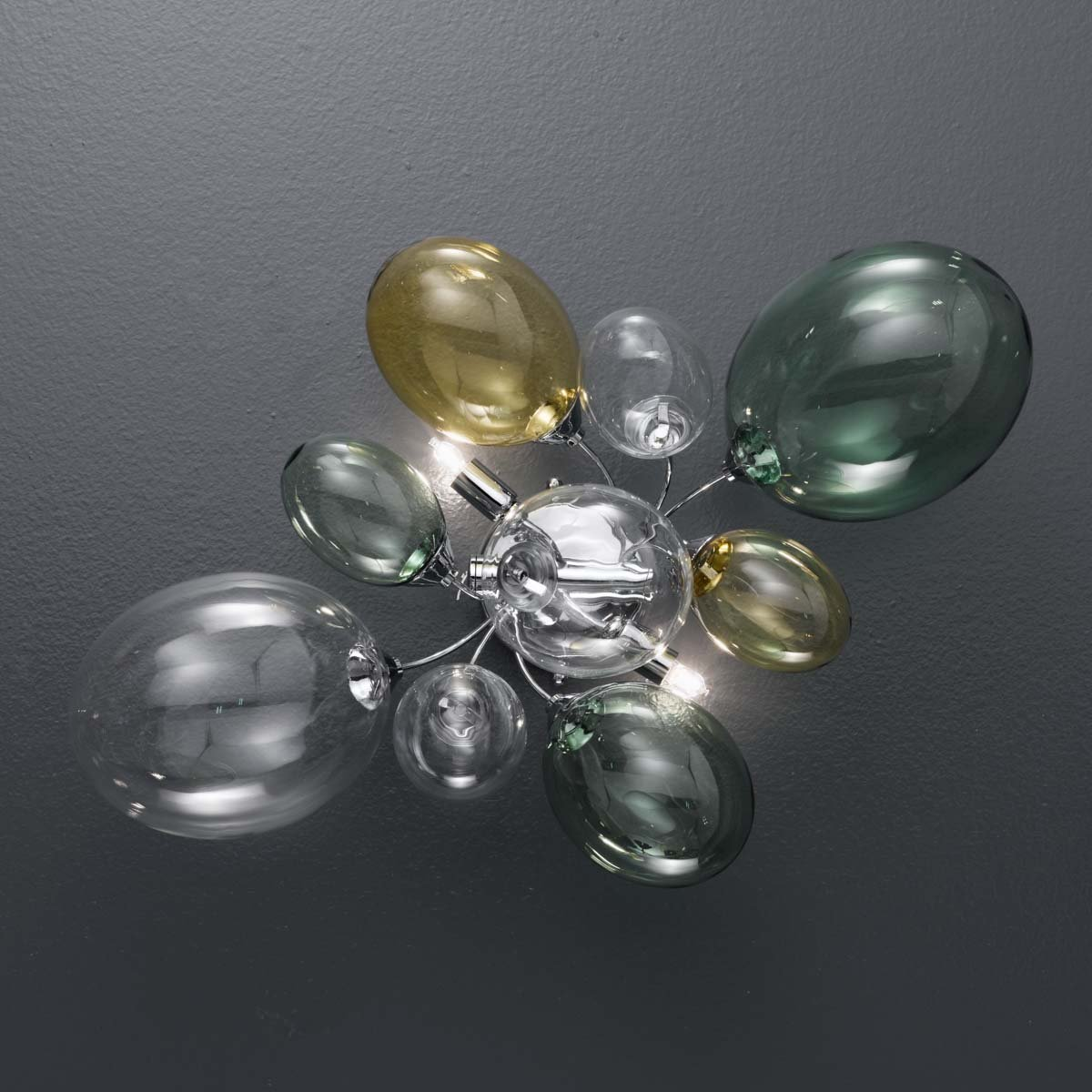 Ballon Bespoke Italian 2 Lamp Wall Light with Blown Glass - Colour Options