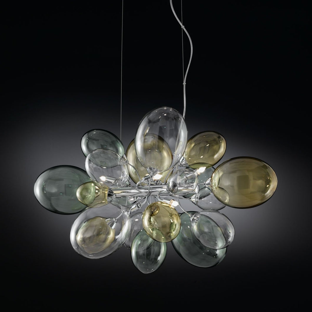 Ballon Bespoke Italian 6 Lamp Small Suspension with Blown Glass - Colour Options